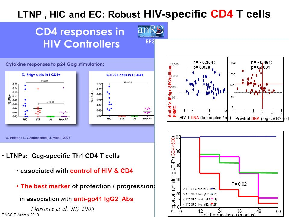 LTNP , HIC and EC: Robust HIV-specific CD4 T cells