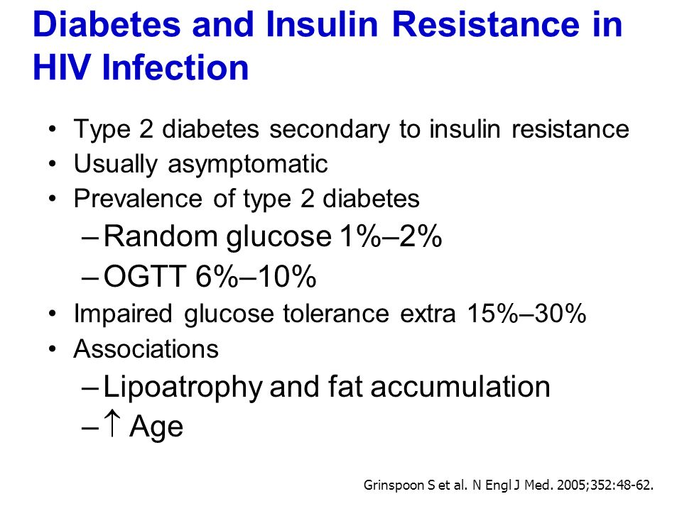 Diabetes and Insulin Resistance in HIV Infection