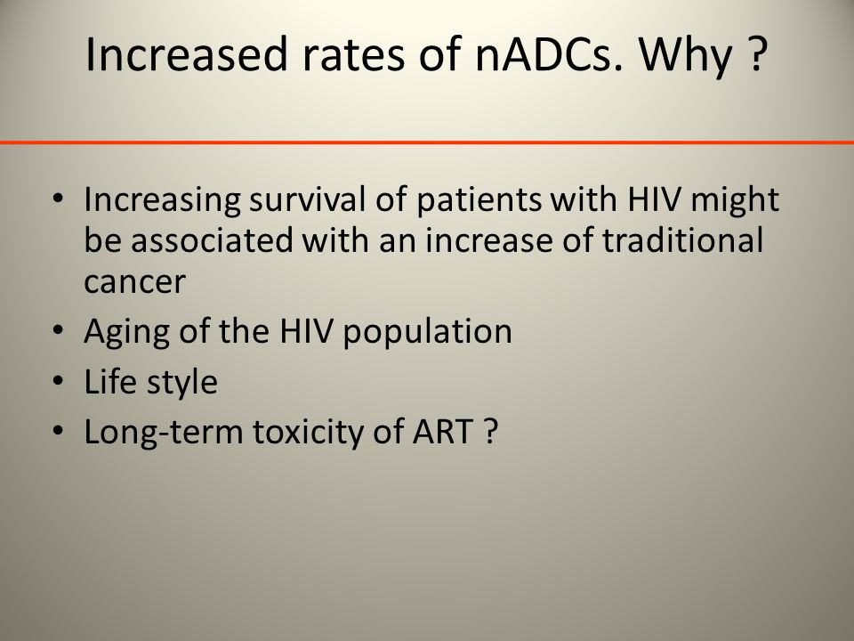 Increased rates of nADCs. Why