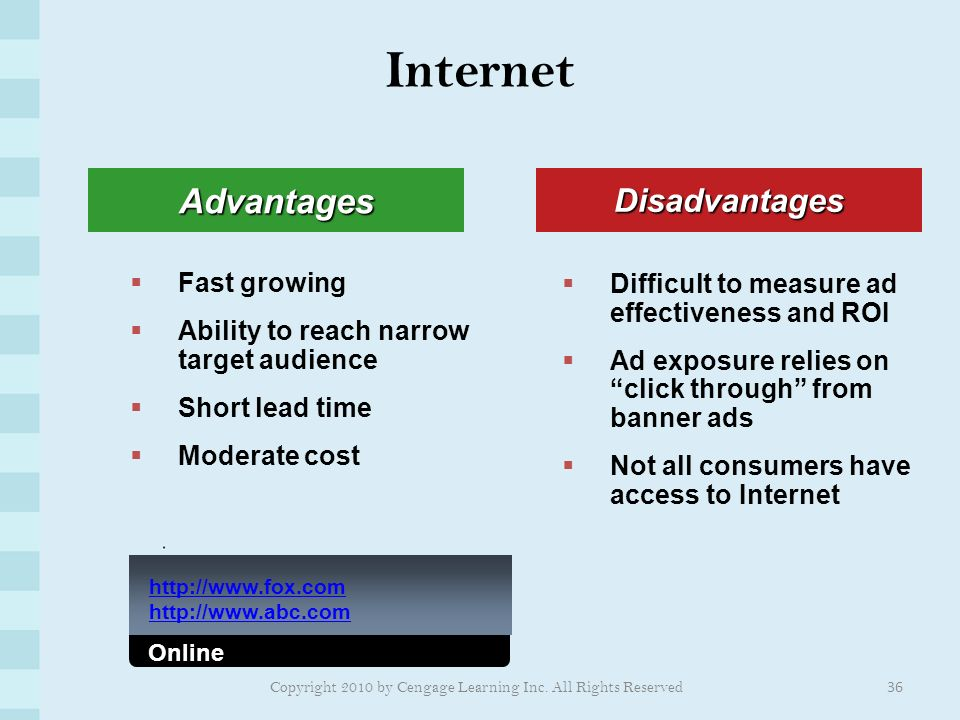 advantages and disadvantages advertisement