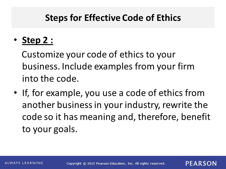 Business Ethics And Code Of Ethics Ppt Video Online Download