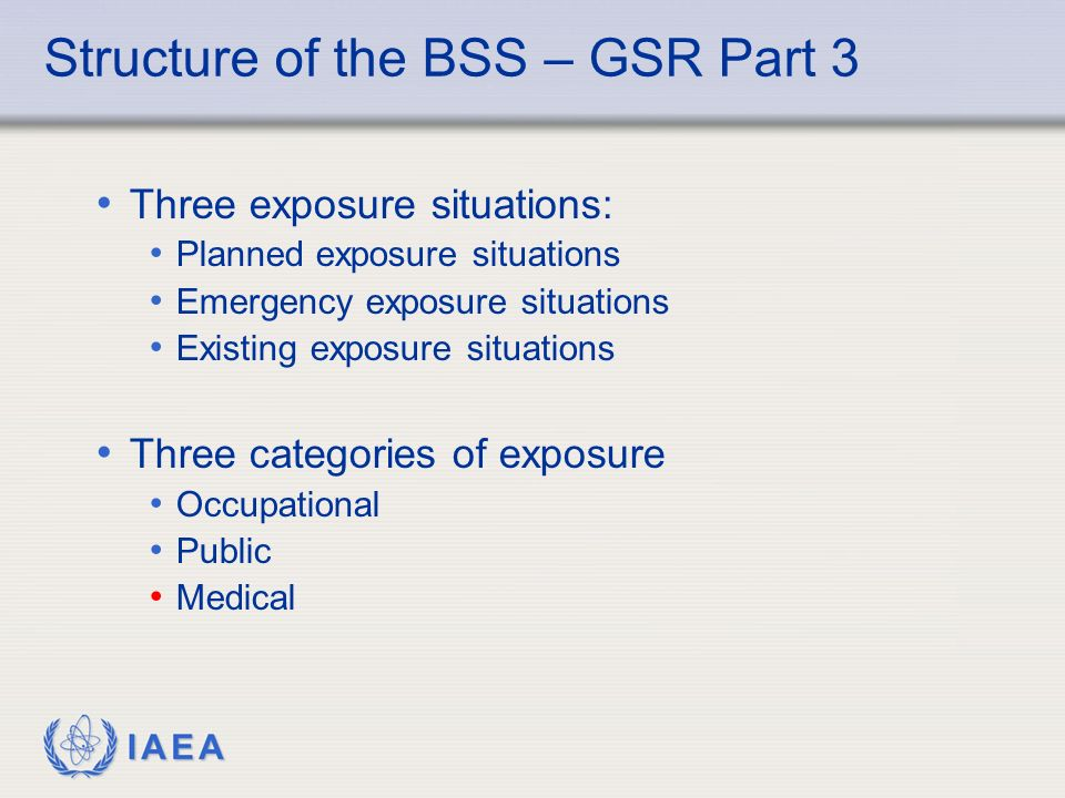 Structure of the BSS – GSR Part 3
