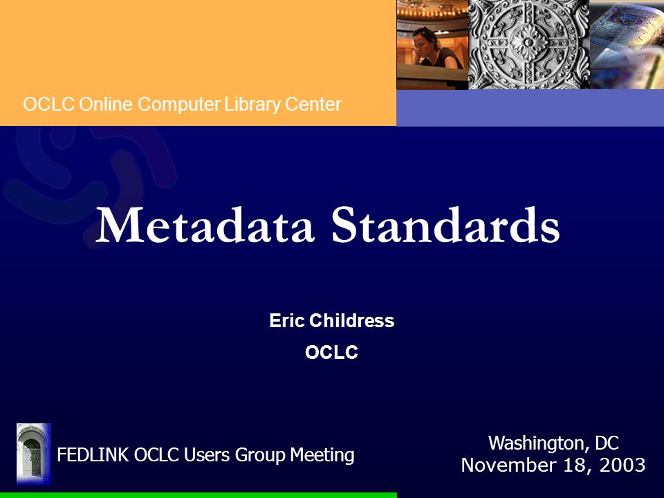 FEDLINK OCLC Users Group Meeting