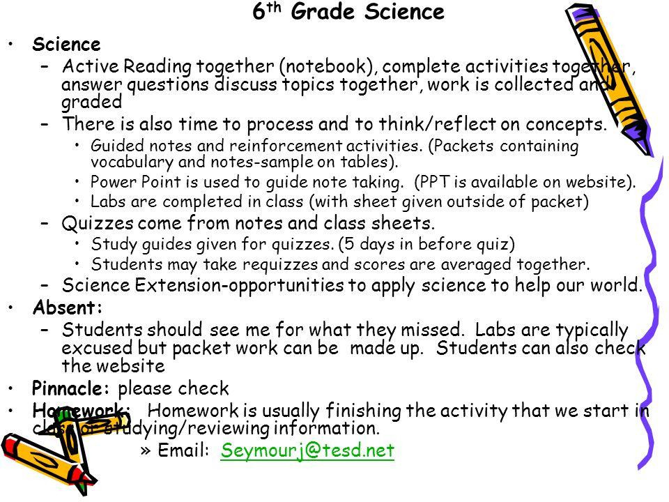 6th grade topics