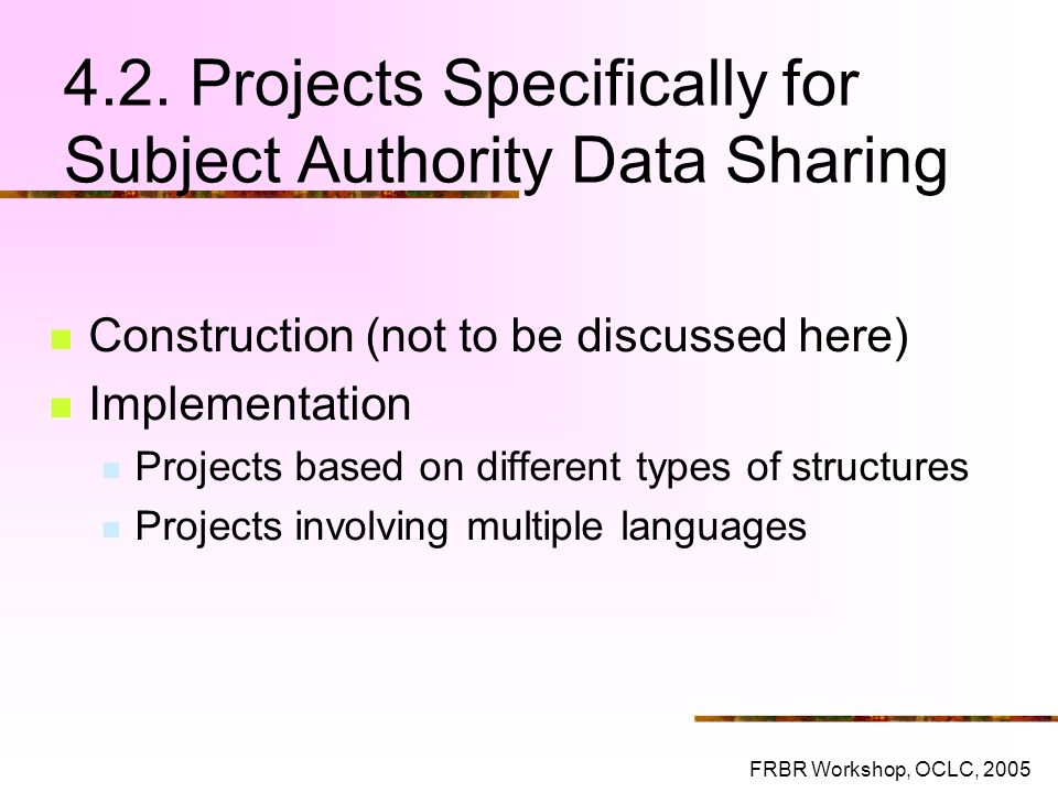4.2. Projects Specifically for Subject Authority Data Sharing