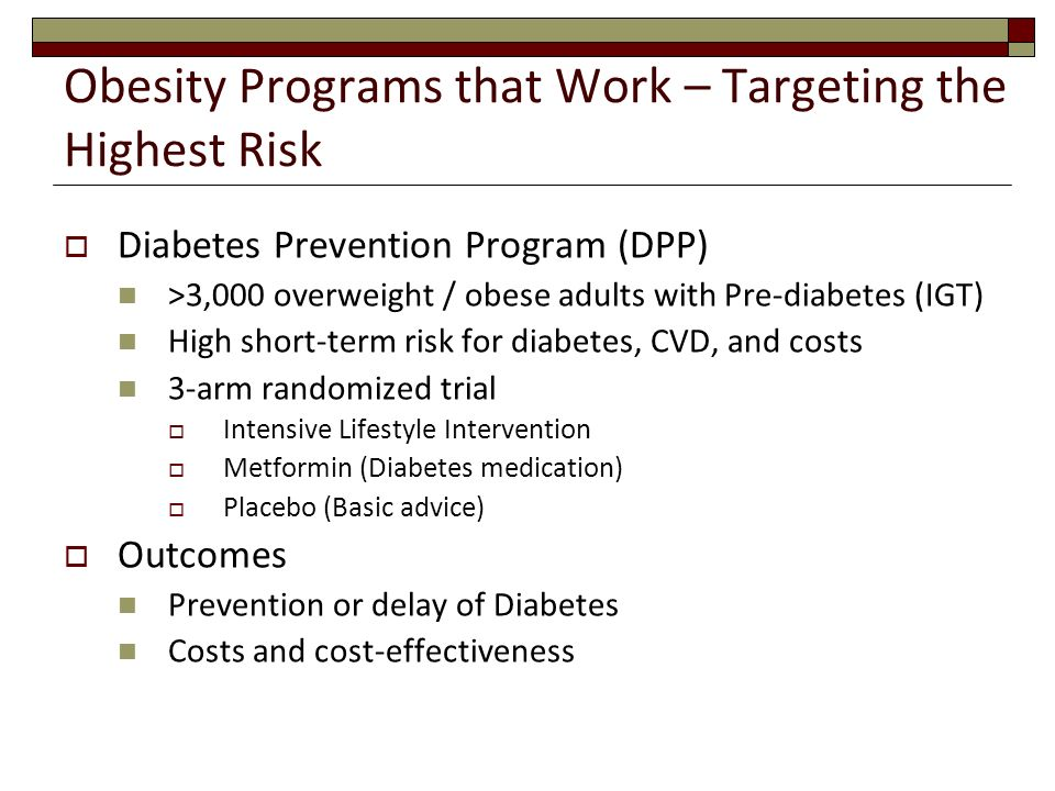 Obesity Programs that Work – Targeting the Highest Risk