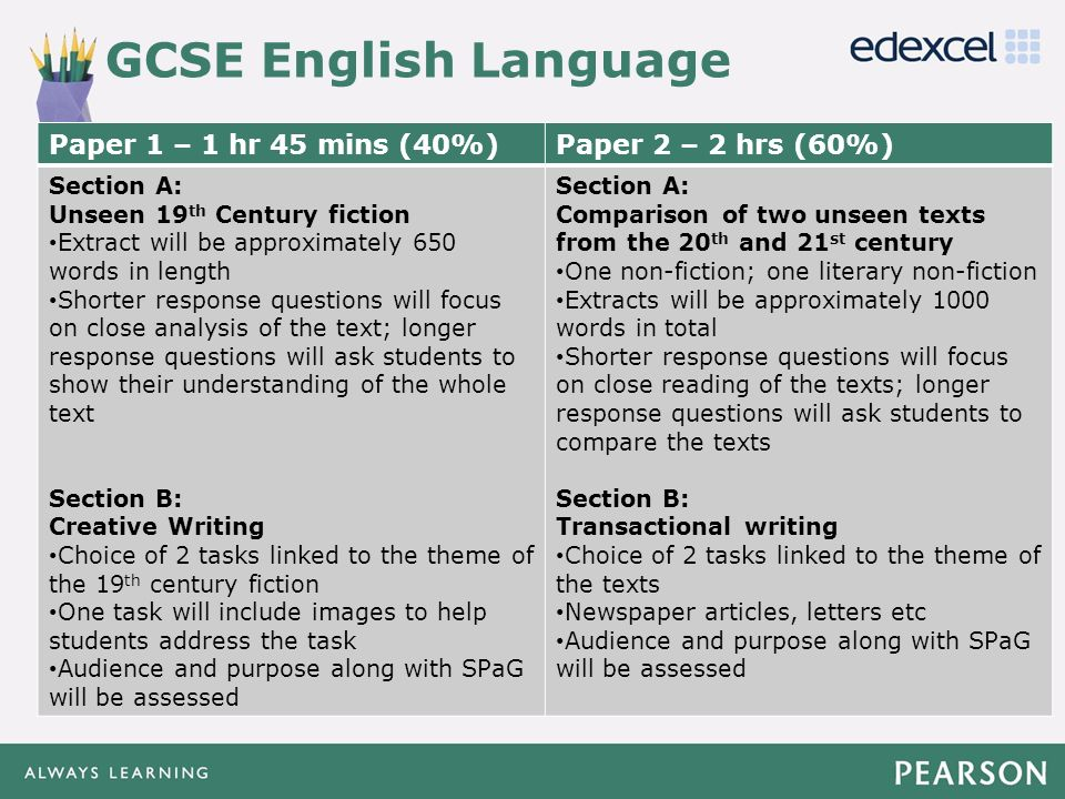 GETTING READY TO TEACH PEARSON S NEW GCSE 9 1 ENGLISH