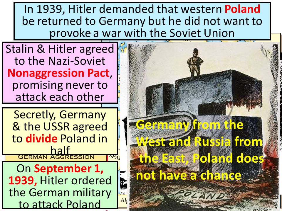 Secretly, Germany & the USSR agreed to divide Poland in half