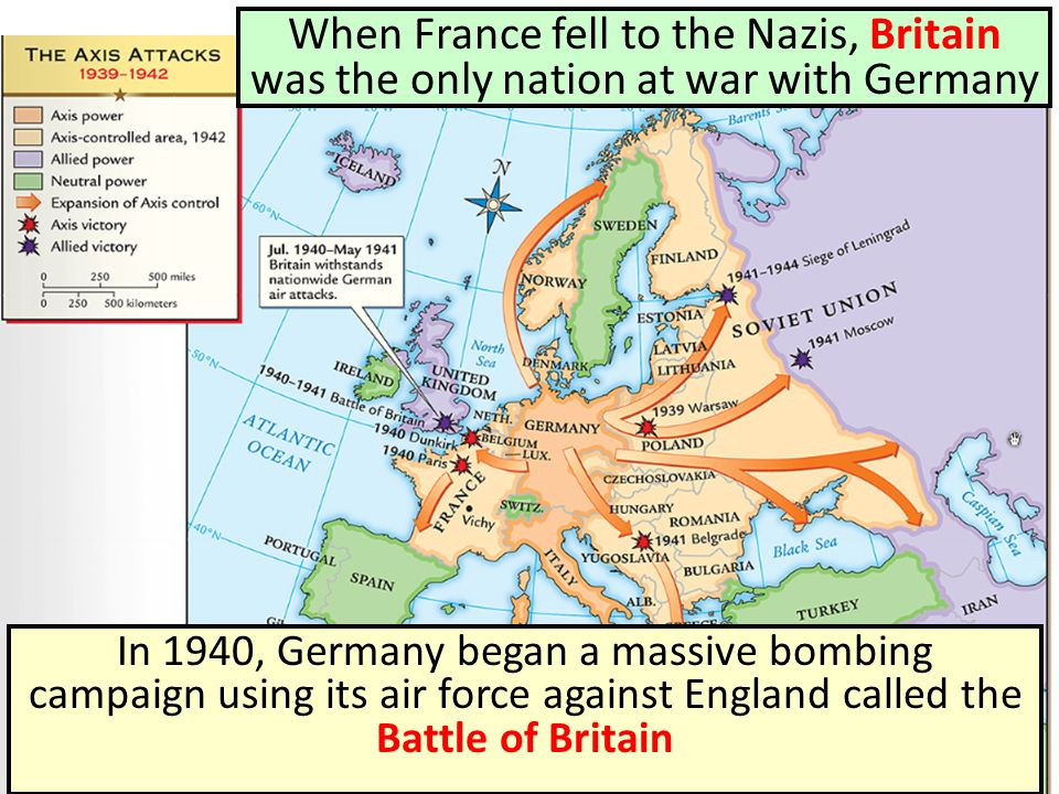 When France fell to the Nazis, Britain was the only nation at war with Germany