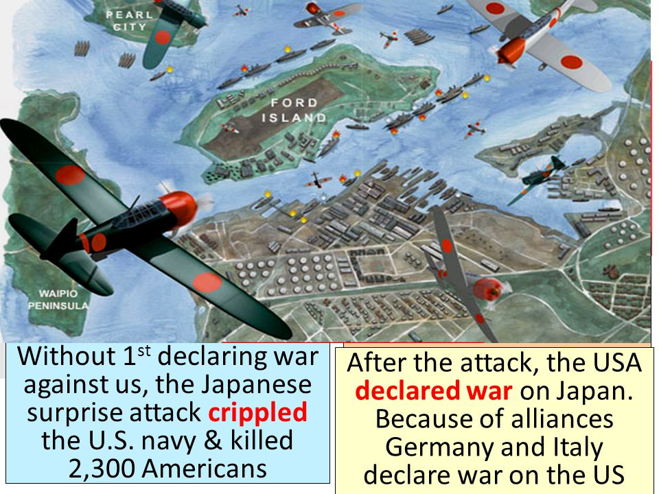On December 7, 1941 Japan attacked the U. S