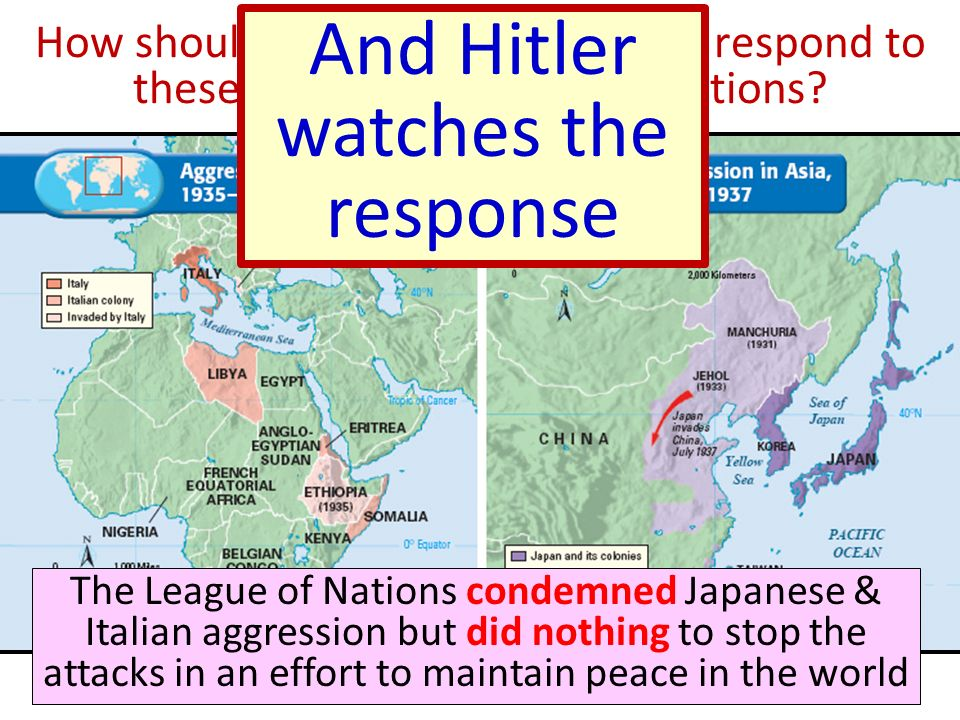 And Hitler watches the response