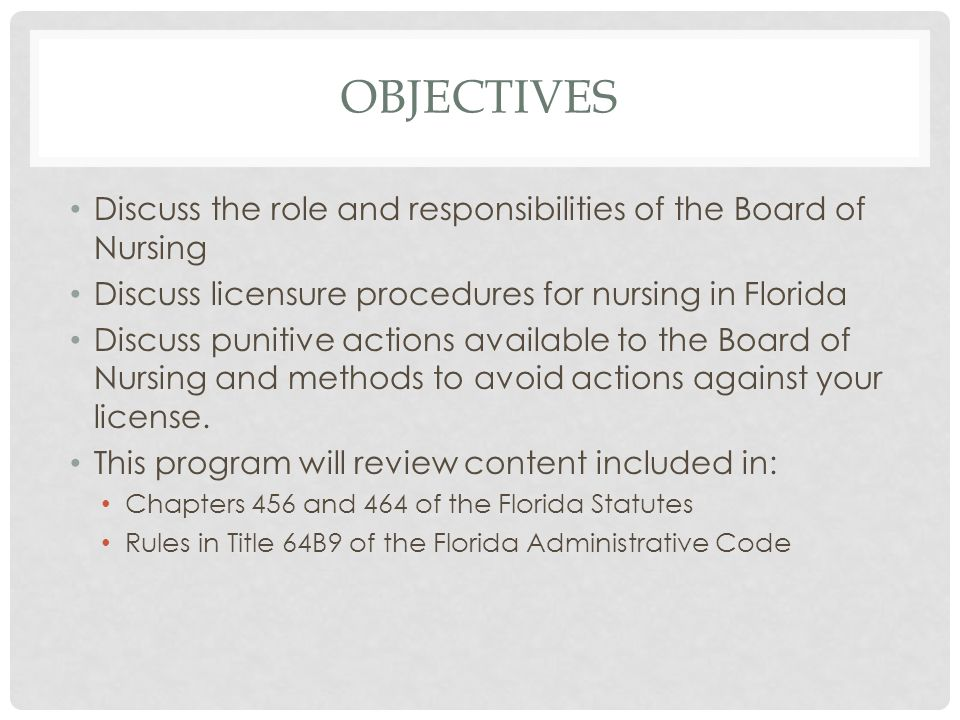 florida law and professional conduct presented by edward briggs dnp