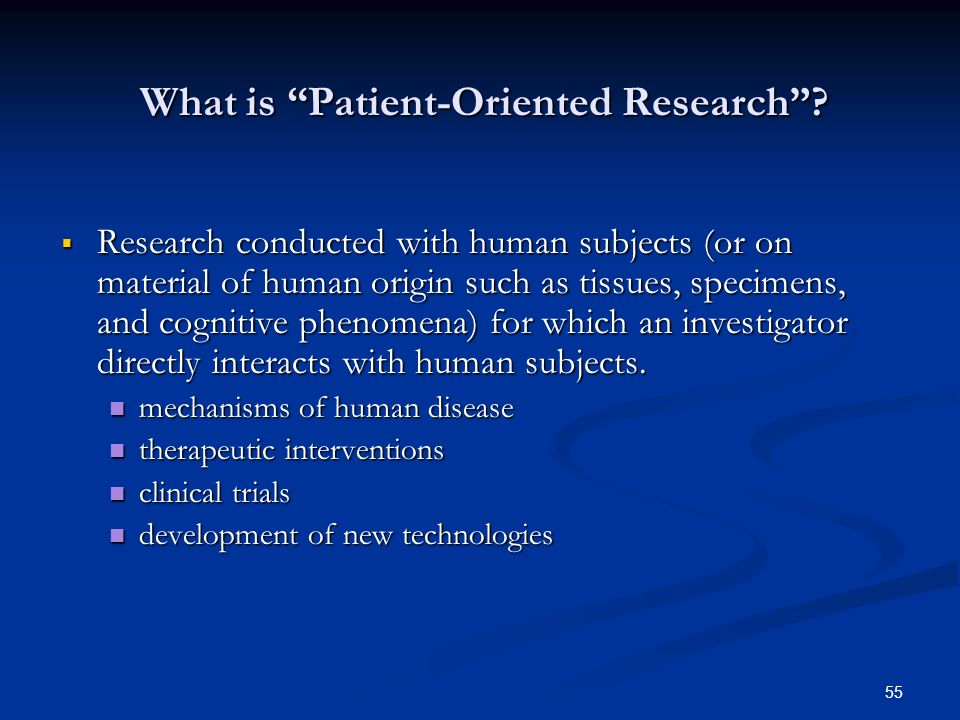 What is Patient-Oriented Research