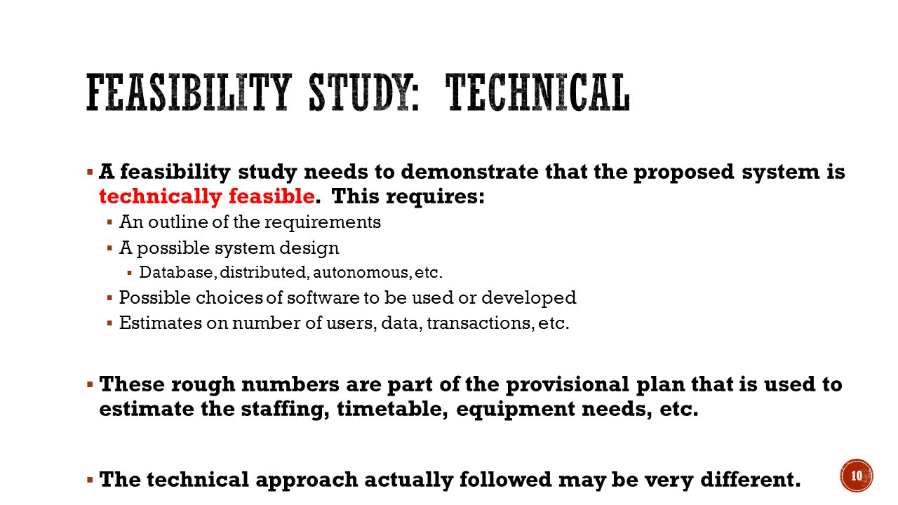 Feasibility Studies CS 360 Lecture ppt download