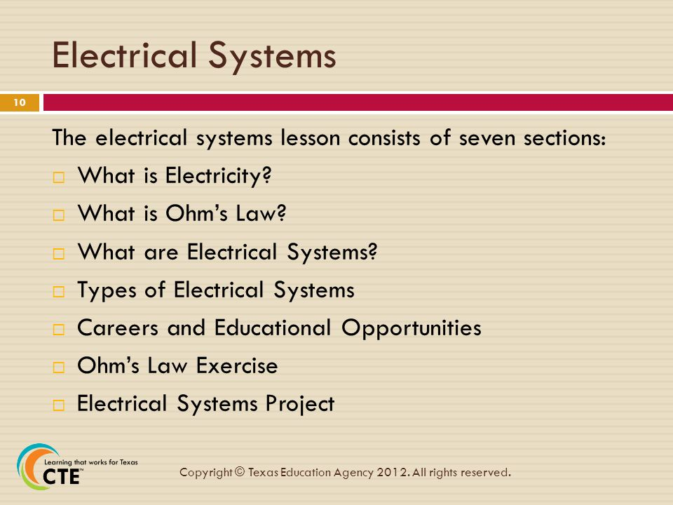 Module 4: Electrical Systems - ppt video online download