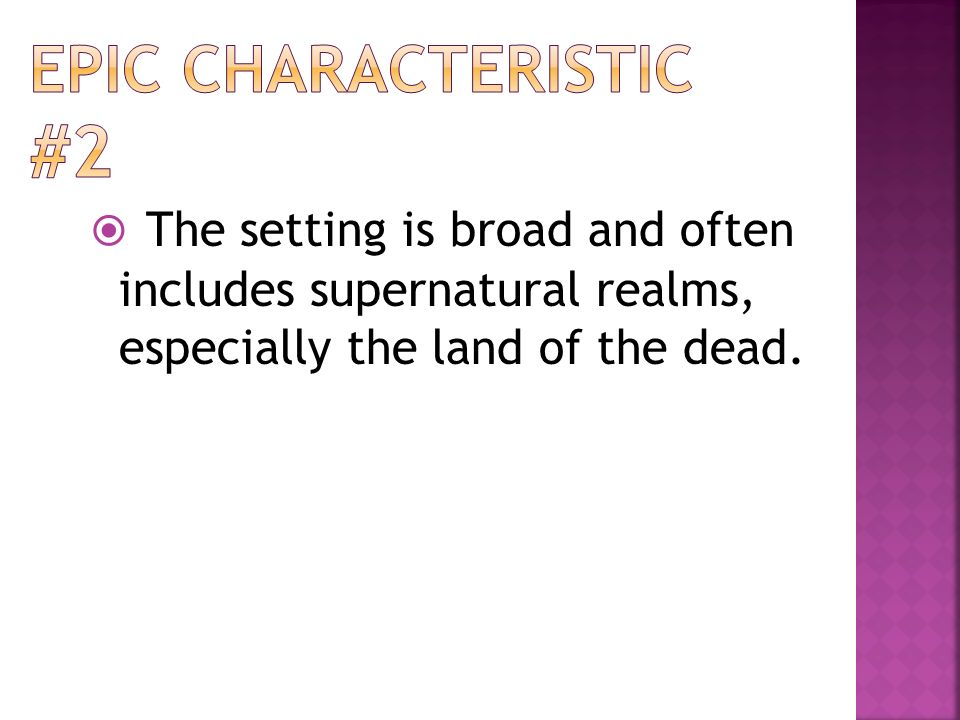 what are the qualities typical of an epic poem