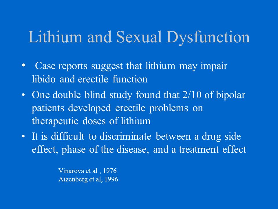 Sexual side effects of lithium