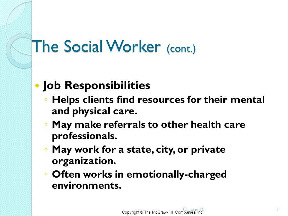 social workers job description