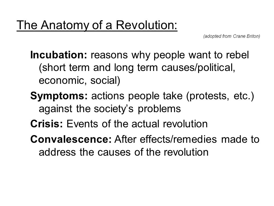 """The Age of Revolutions """"Those who make peaceful revolution ..."""
