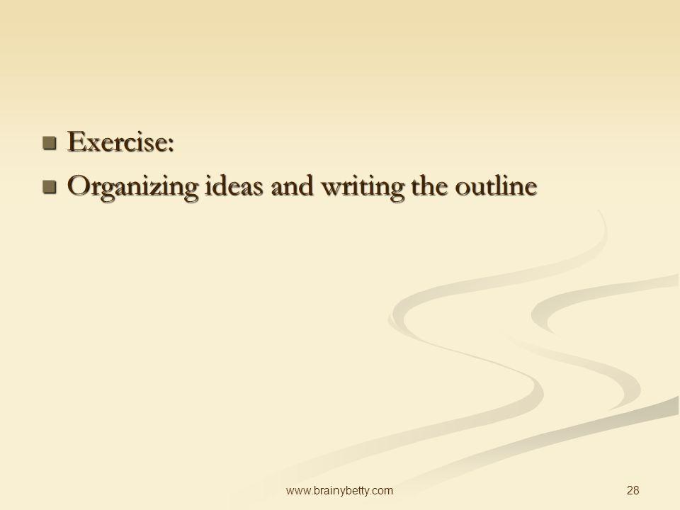 outline ideas