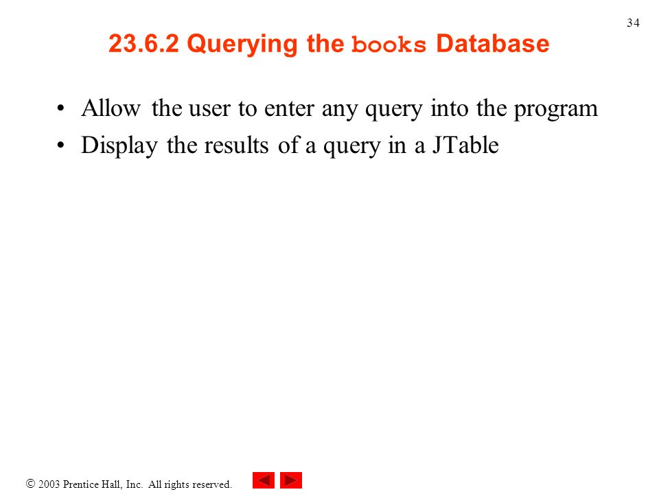 Querying the books Database