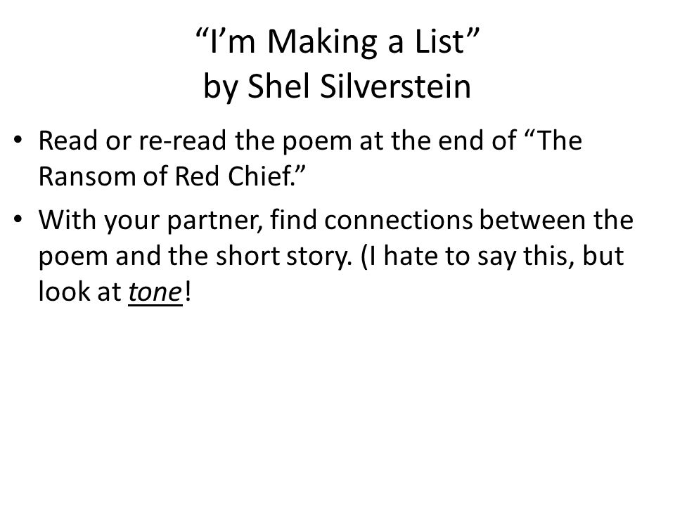The Ransom Of Red Chief Ppt Video Online Download