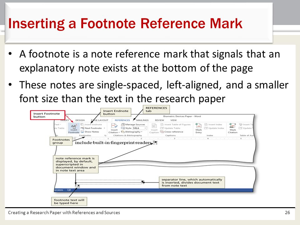 references on research paper