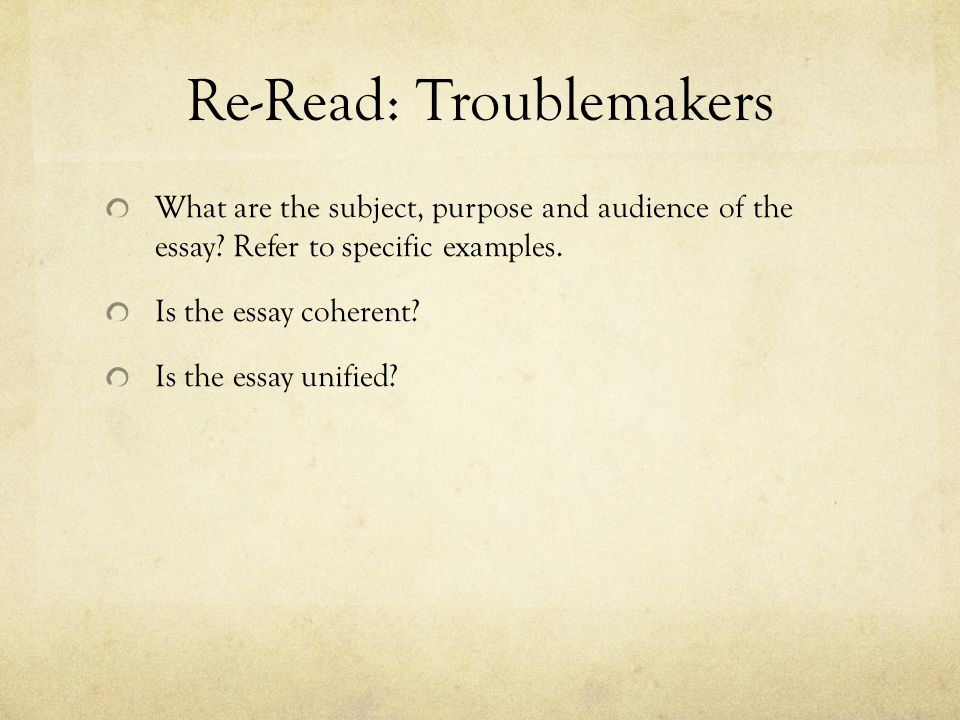 Re-Read: Troublemakers
