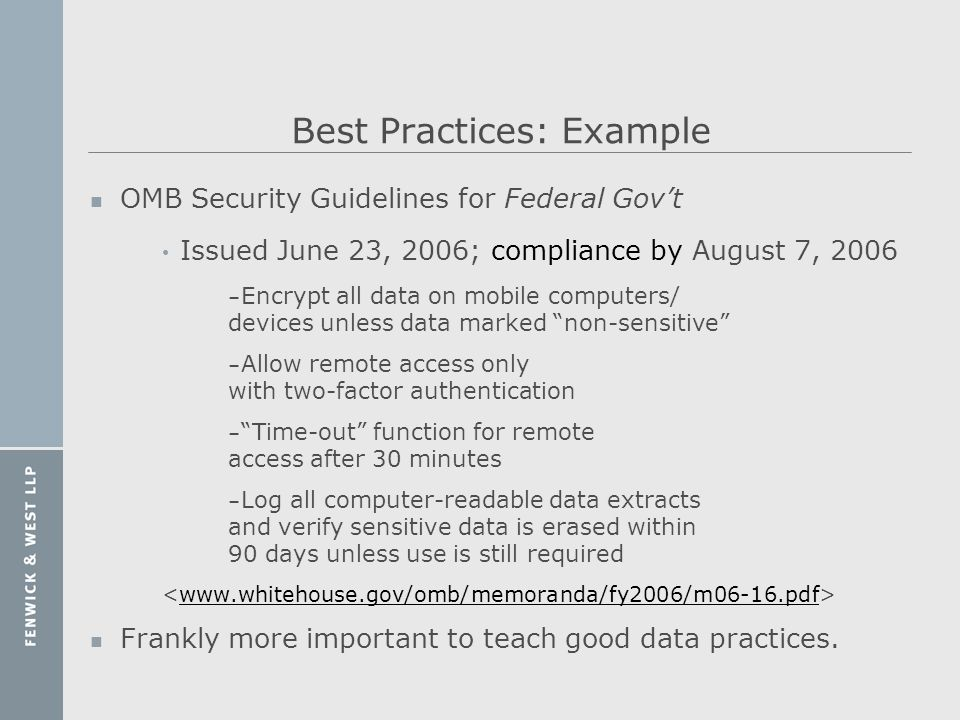 Best Practices: Example