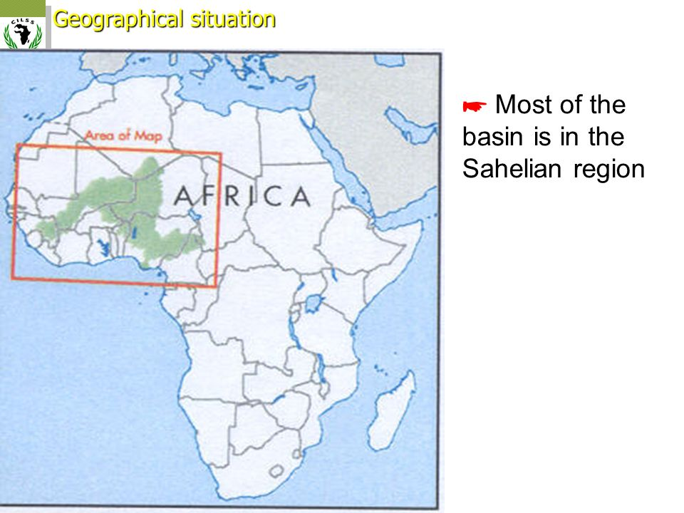 ☛ Most of the basin is in the Sahelian region