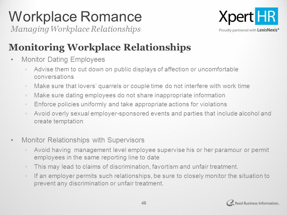 Employer dating employee