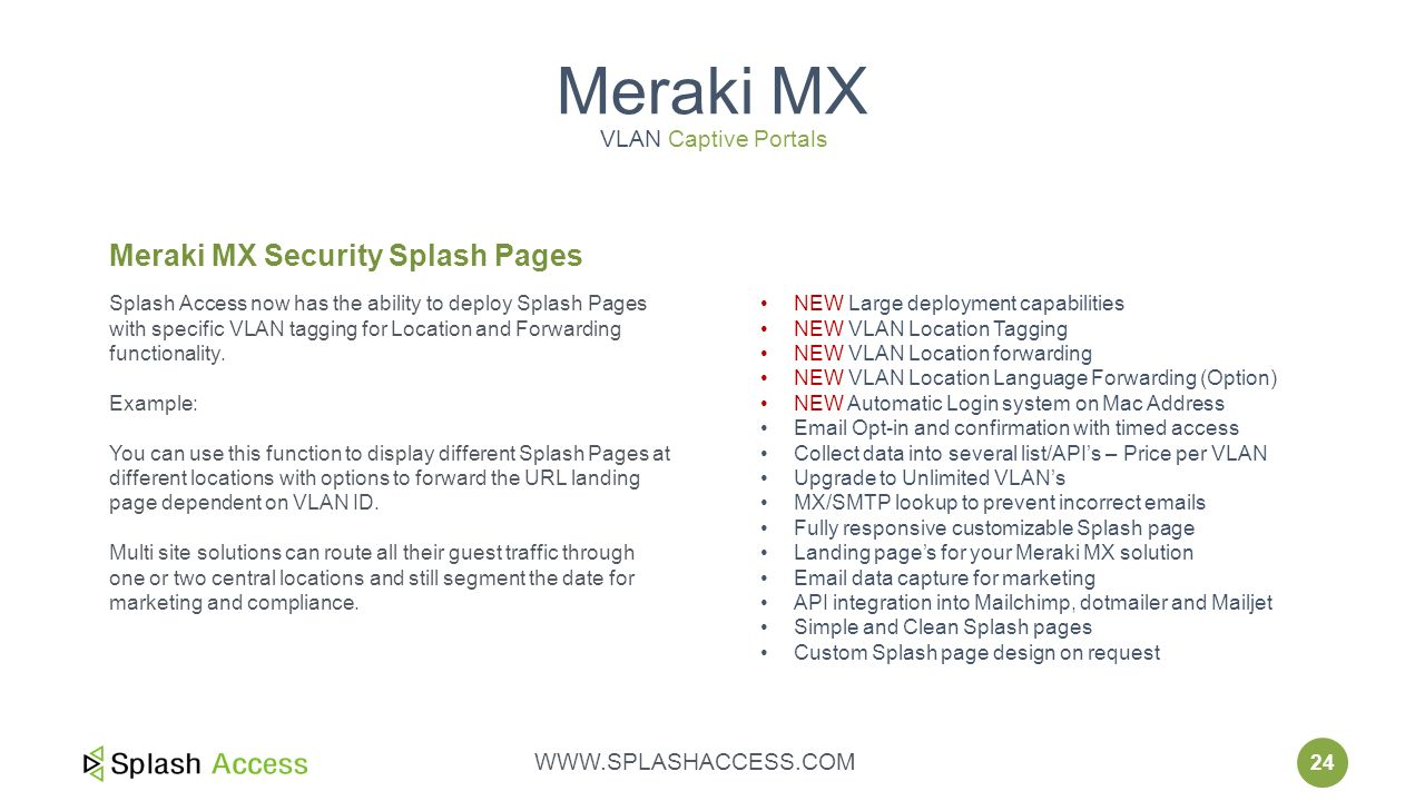 Splash Access Cloud Managed Meraki  - ppt download