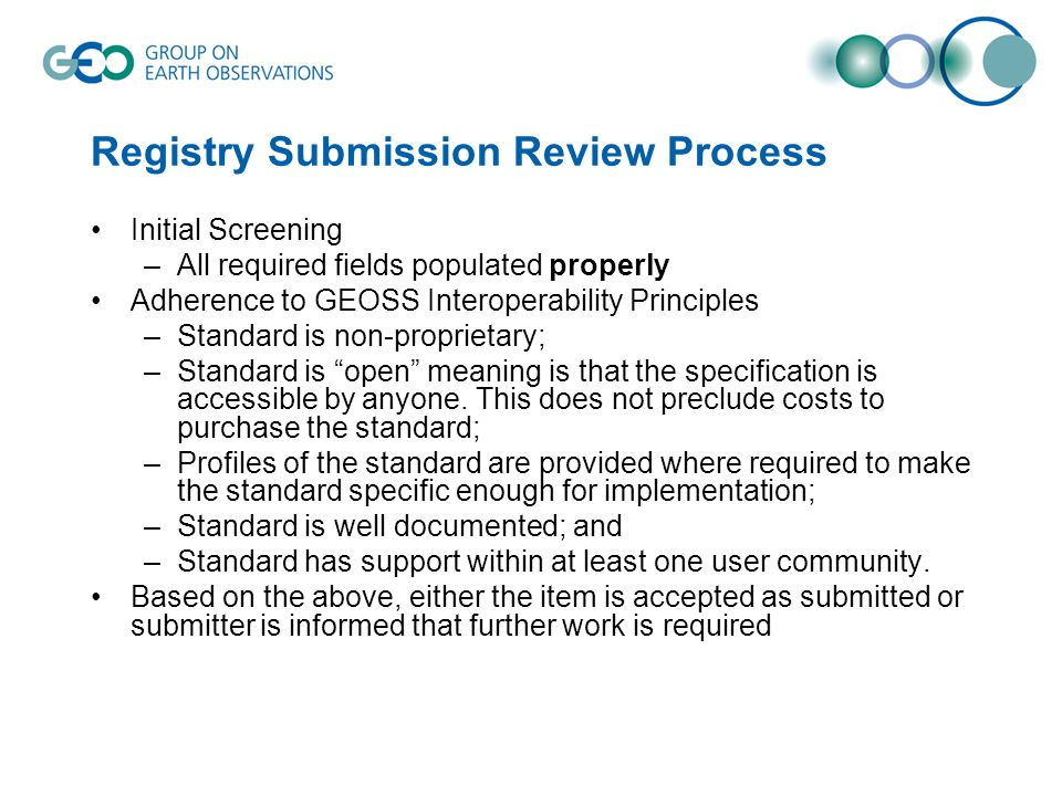 Registry Submission Review Process