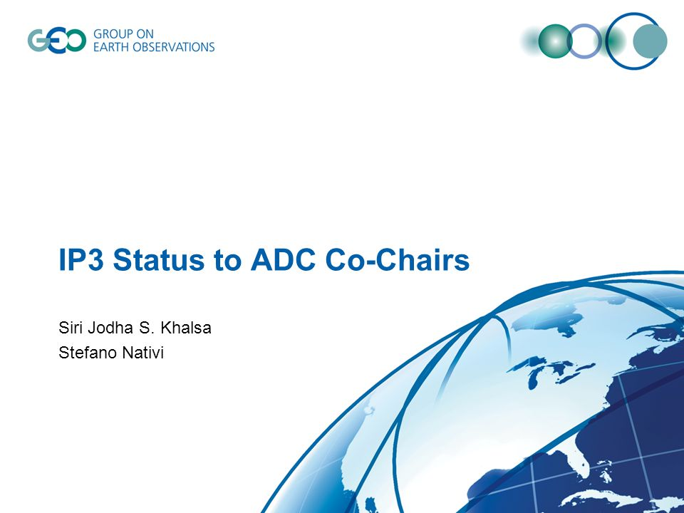 IP3 Status to ADC Co-Chairs