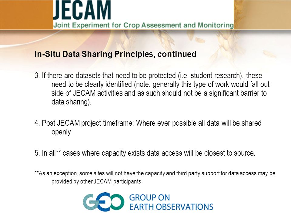 In-Situ Data Sharing Principles, continued