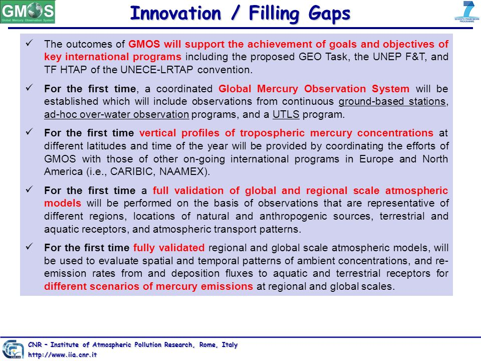 Innovation / Filling Gaps