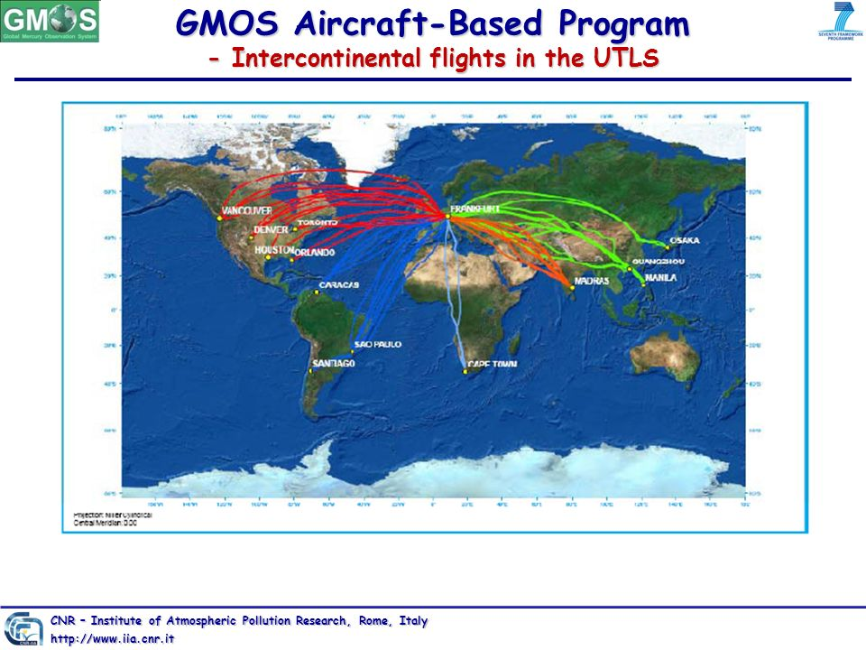 GMOS Aircraft-Based Program - Intercontinental flights in the UTLS