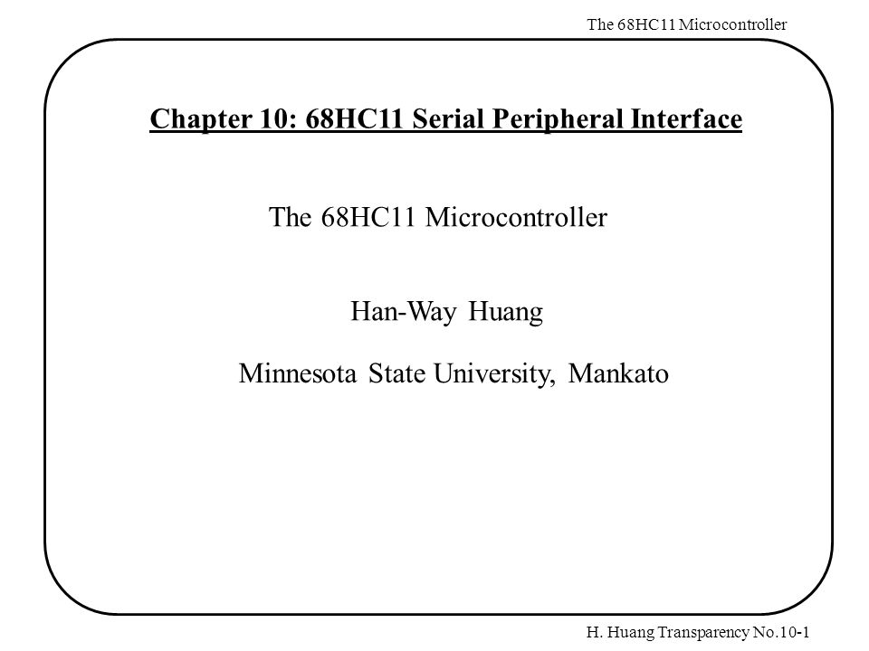 Chapter 10 68hc11 Serial Peripheral Interface Ppt Download. Chapter 10 68hc11 Serial Peripheral Interface. Wiring. Block Diagram Of 68hc11 Microcontroller Auto Wiring At Eloancard.info