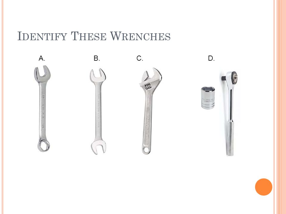 Identify These Wrenches