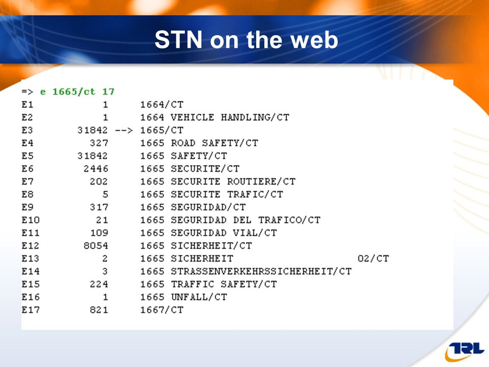 STN on the web The Expand command here allows you to see the various different terms that share the same term code.