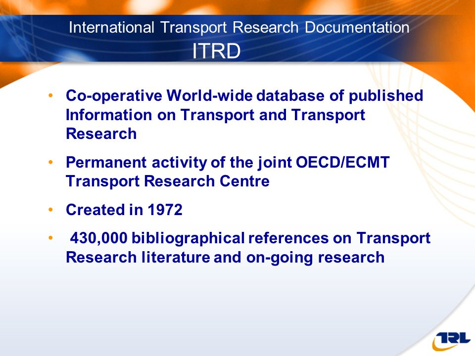 International Transport Research Documentation ITRD