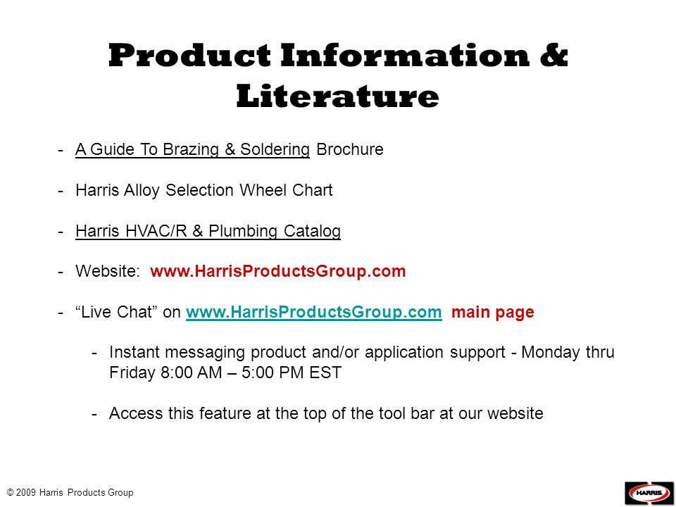 Product Information & Literature