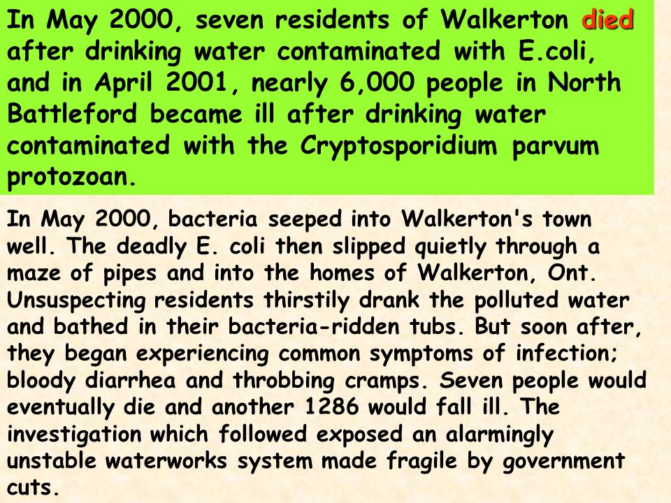 Symptoms Of Drinking Contaminated Well Water