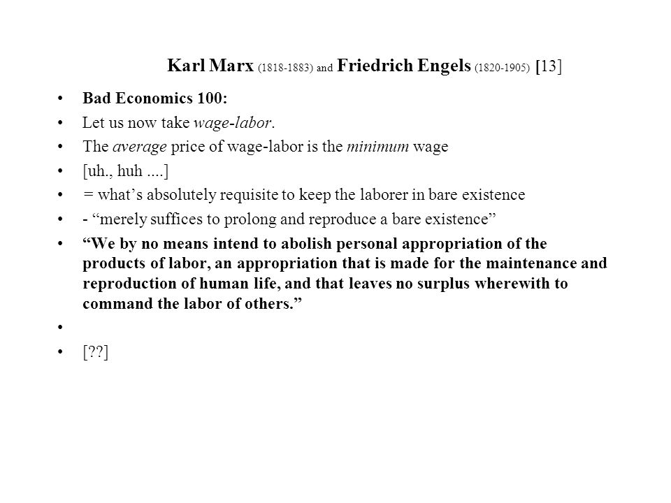 Karl Marx ( ) and Friedrich Engels ( ) [1] - ppt download