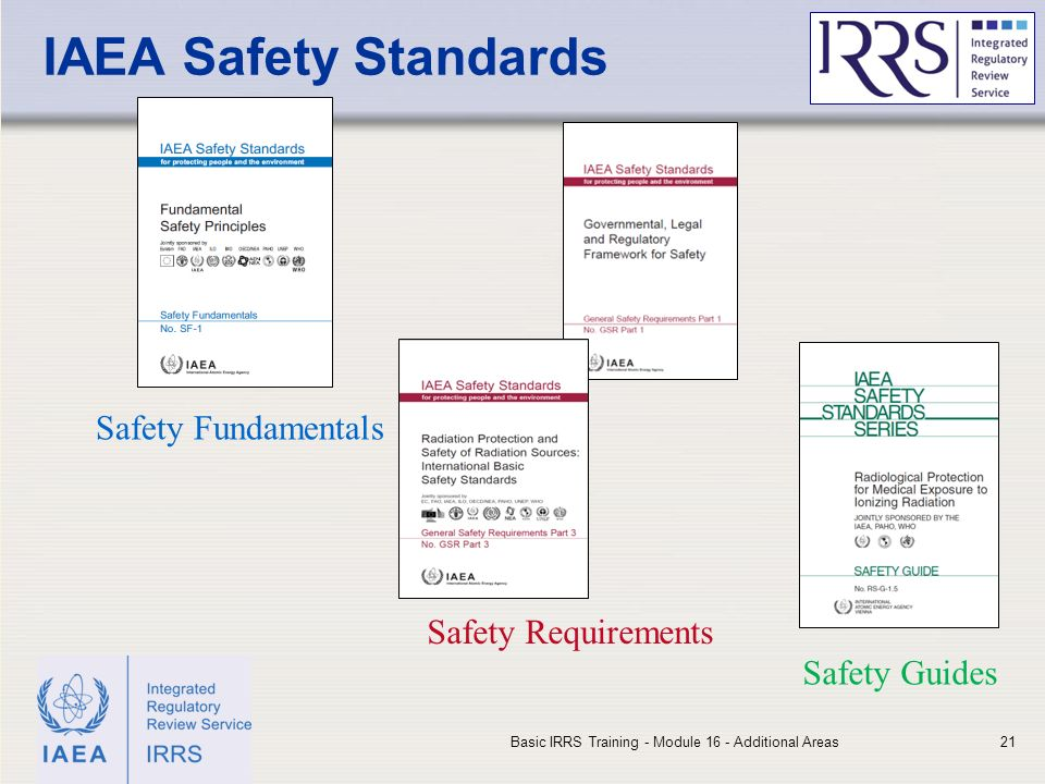 IAEA Safety Standards Safety Fundamentals Safety Requirements