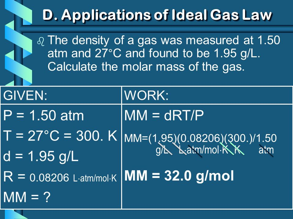 D. Applications of Ideal Gas Law