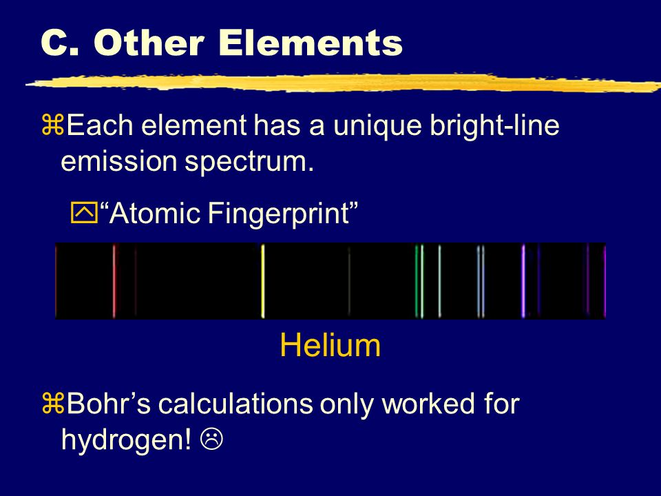 C. Other Elements Helium