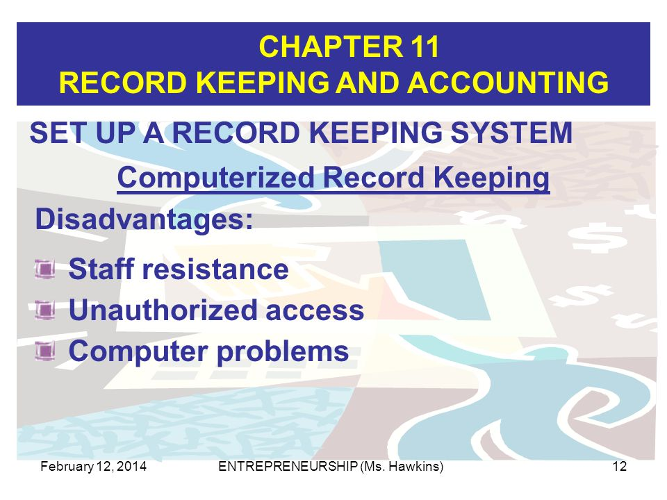 Computerized Record Keeping