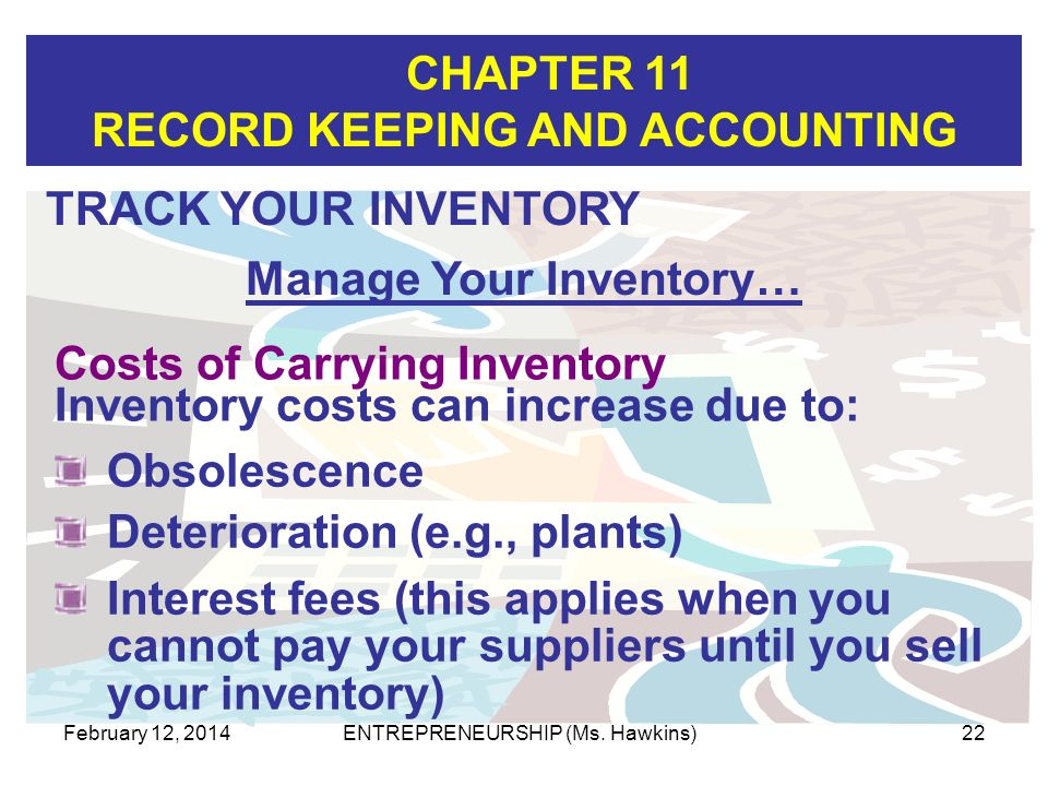 Manage Your Inventory…