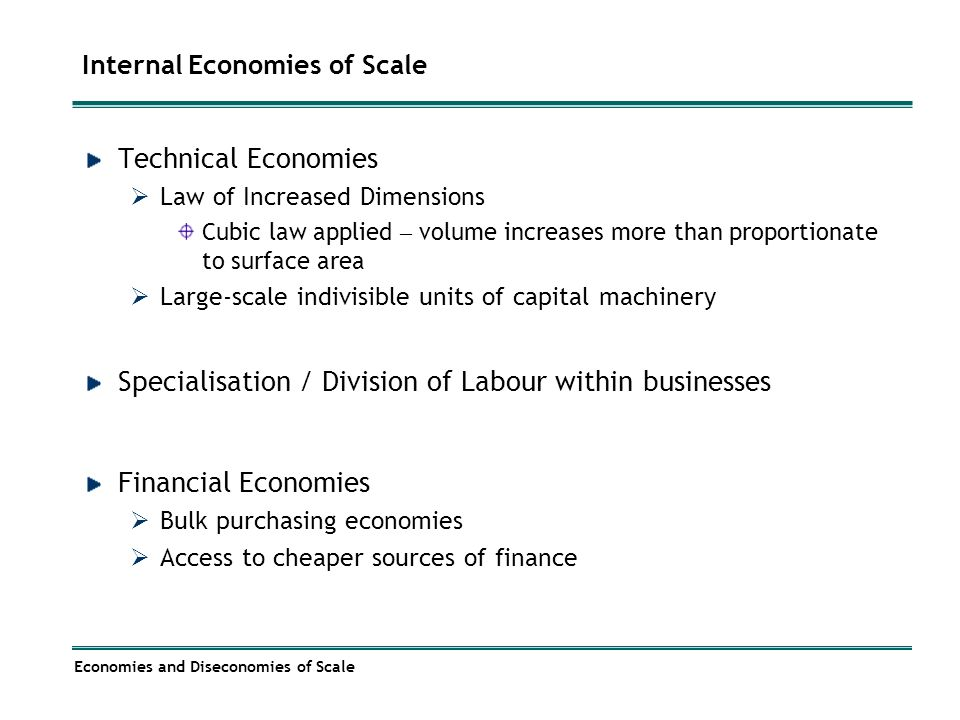 what is internal economies of scale